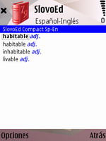 SlovoEd Compact English-Spanish & Spanish-English dictionary for S60