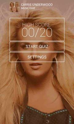 Carrie Underwood Music Quiz