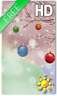 Christmas Balls Live Wallpaper