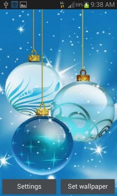Christmas Bulbs Shine LWP