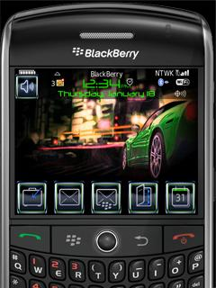 Animated City At Night Theme for BlackBerry 9500