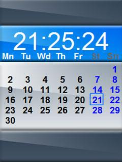 Clock Calendar Blue2