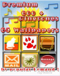 Premium Delux 639 Ringtones + 65 Wallpapers Sym