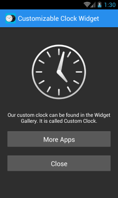 Customizable Clock Widgets