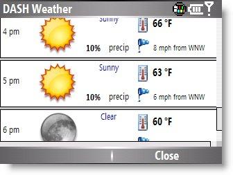Погода на смартфоне