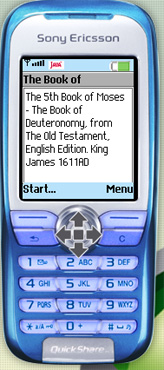 Book of Deutronomy on your cellphone - 5th Book of the Old Testament, for Symbian and J2ME devices