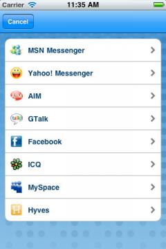 eBuddy for iPhone