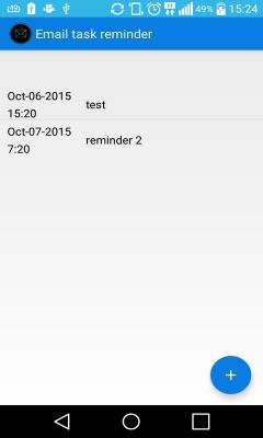 Email task reminder