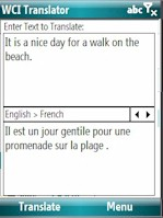 WCI Translator 2.2: English-French for Mobile 6.x