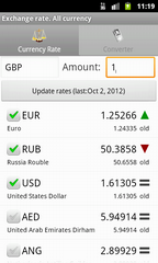 Exchange rate. All currency