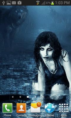 Fantasy Wolf Girl LWP