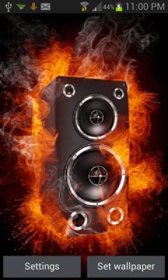 Fiery Speaker Live Wallpaper