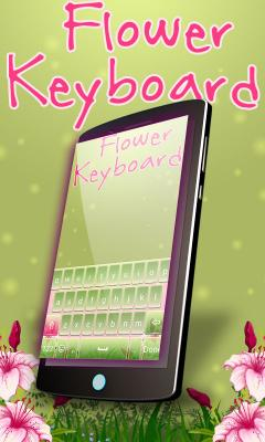 Flowers keyboard Theme Free