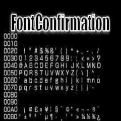 PSP Homebrew: FontConfirmation