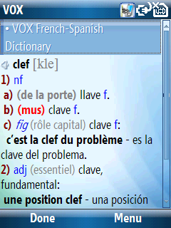 French Talking VOX French-Spanish & Spanish-French dictionary