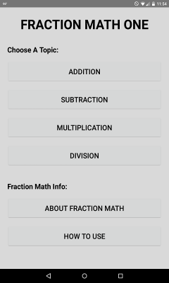 Fraction Math One