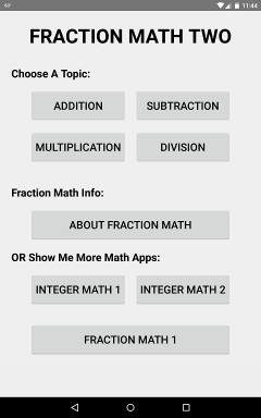 Fraction Math Two