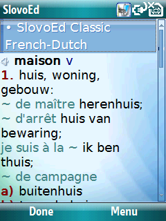 French Talking SlovoEd Classic Dutch-French & French-Dutch dictionary