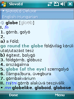 English Talking SlovoEd Deluxe English-Hungarian & Hungarian-English dictionary for Windows Mobile