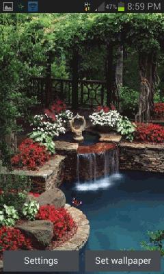 Garden View Live Wallpaper