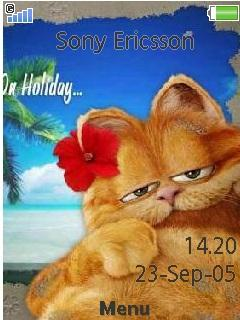 Garfield On Holidey