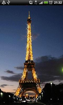 Golden Eiffel Tower Animated