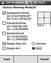 GPS2clipboard