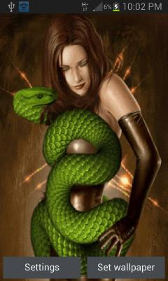 Green Cobra Girl LWP