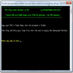 PS3 NOR And NAND Auto Patcher 4.50: Updated To Support Habib 4.50 CFW