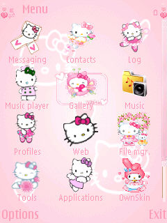 Hello Kitty Animated for Nokia E71 Free Download