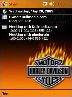 Firey Harley-Davidson