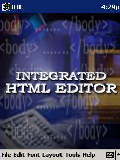 Integrated HTML Editor for Pocket PC