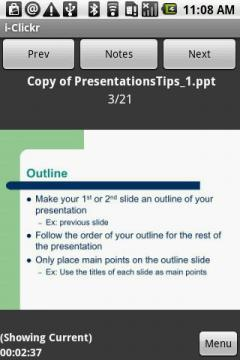 i-Clickr PowerPoint Remote for Android Smartphones