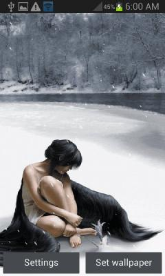 Icy Lake Girl LWP