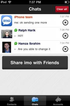 imo instant messenger for iPhone/iPad