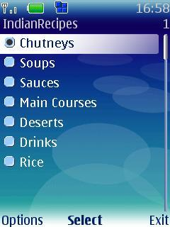 IndianRecipes for Symbian
