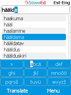 SlovoEd Classic English-Estonian & Estonian-English dictionary for mobiles