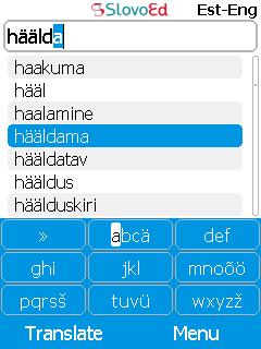 SlovoEd Classic English-Estonian & Estonian-English dictionary for mobiles