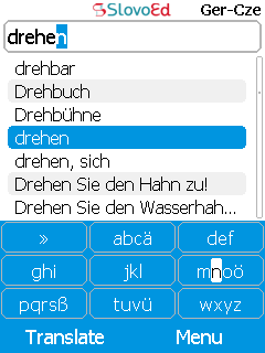SlovoEd Deluxe Czech-German & German-Czech dictionary for mobiles