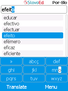 SlovoEd Compact Portuguese-Slovenian & Slovenian-Portuguese dictionary for mobiles