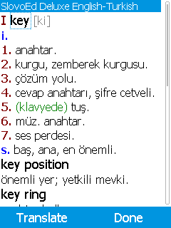 SlovoEd Deluxe English-Turkish & Turkish-English dictionary for mobiles