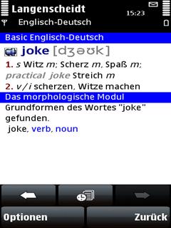 Langenscheidt Basic-Worterbuch Englisch fur Symbian S60