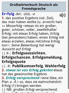 Langhenscheidt Grossworterbuch Deutsch als Fremdsprache for Android