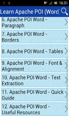 Learn Apache POI Word
