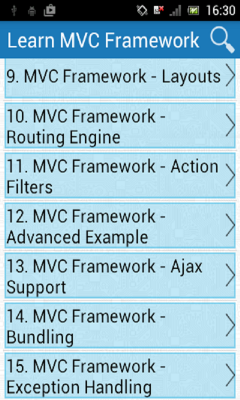 Learn MVC Framework