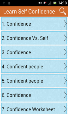 Learn Self Confidence