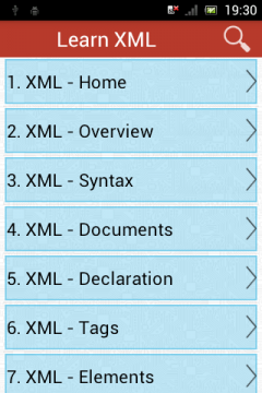 LEARN XML FOR ANDROID EBOOK