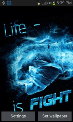 Life Is Fight LWP