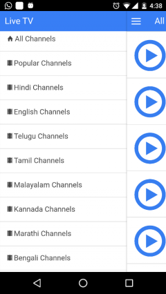 Live TV Indian Channels