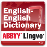 ABBYY Lingvo x3 Mobile English - English Oxford Dictionary